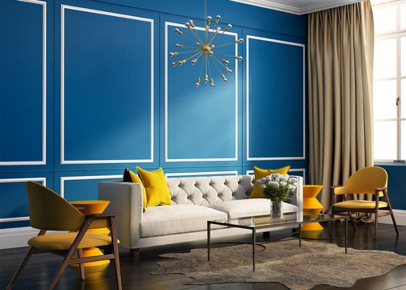 Синий цвет в интерьере 2