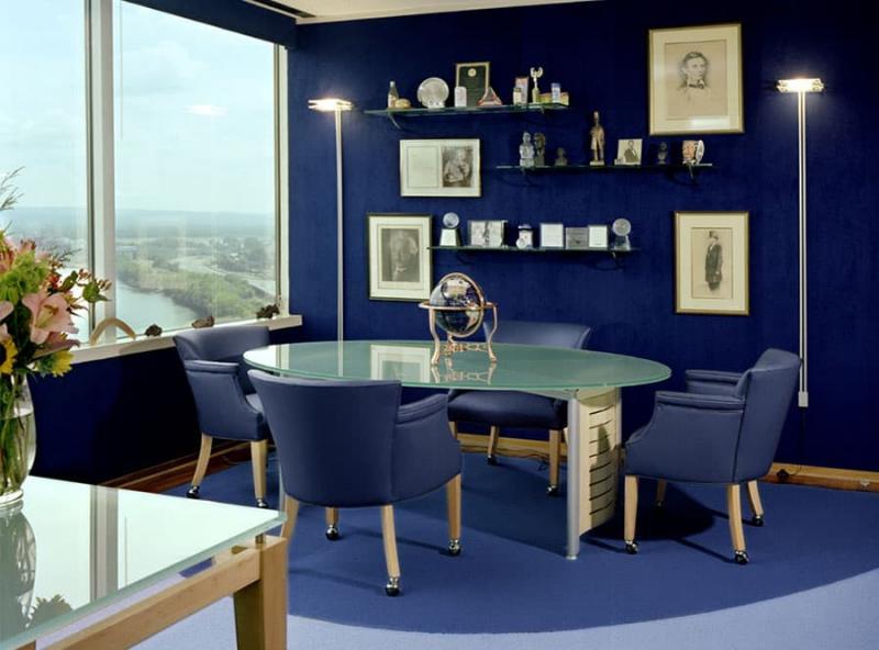 Синий цвет в интерьере 4