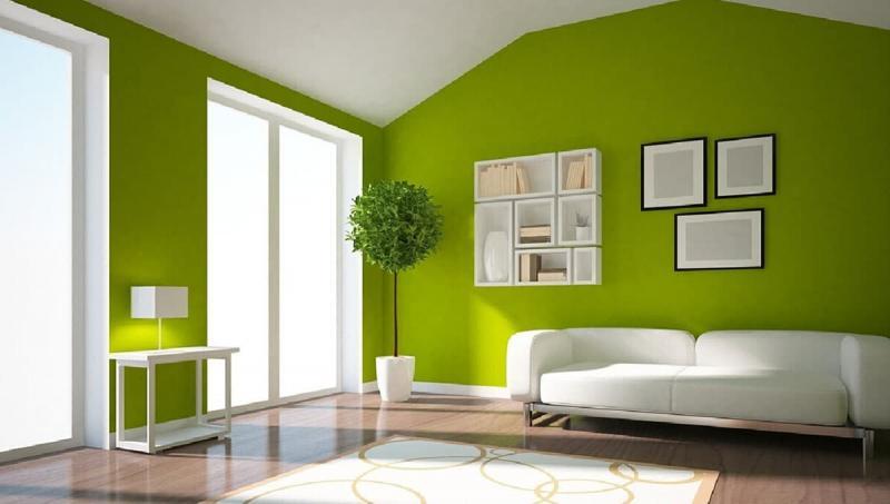 Зеленый цвет в интерьере 1