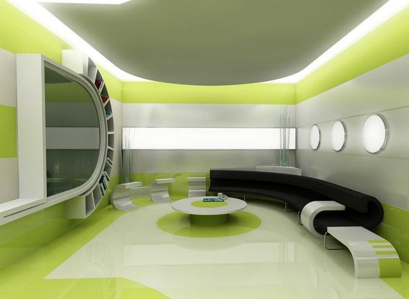 Зеленый цвет в интерьере 6