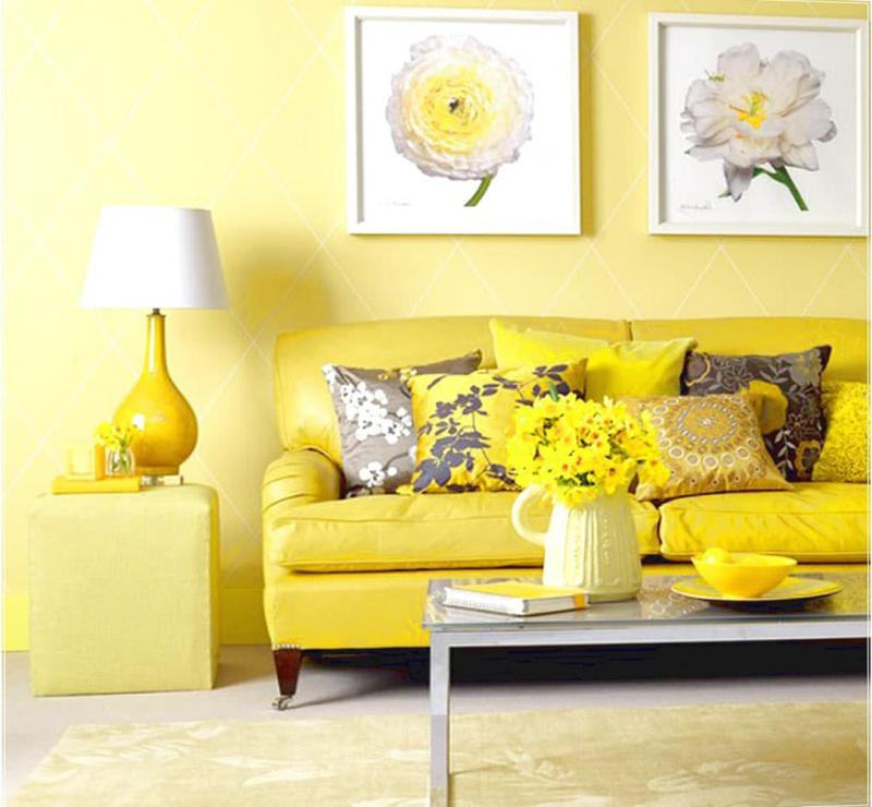 Желтый цвет в интерьере 1