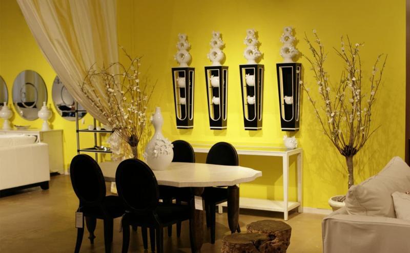 Желтый цвет в интерьере 3