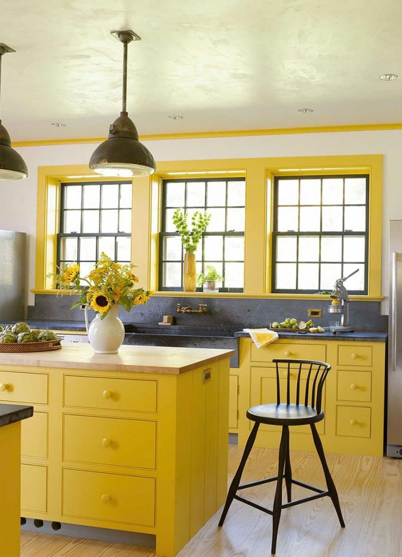 Желтый цвет в интерьере 4