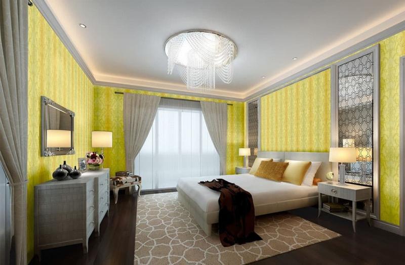 Желтый цвет в интерьере 6
