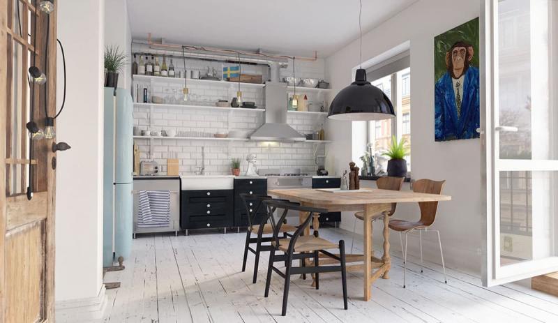 Кухня в скандинавском стиле 4