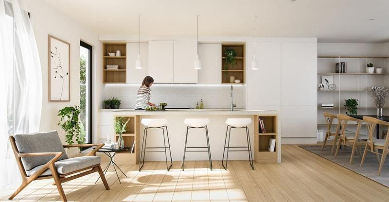 Кухня в скандинавском стиле 7