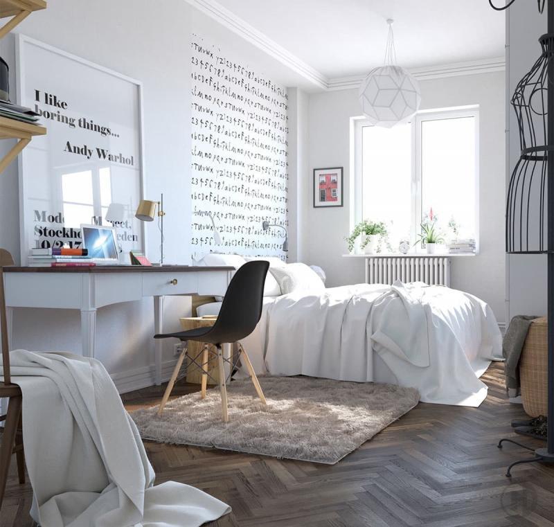 Спальня в скандинавском стиле 6