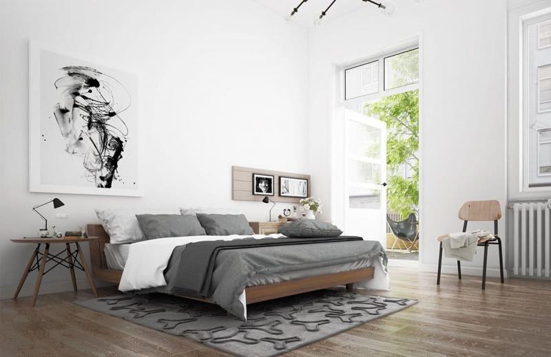 Спальня в скандинавском стиле 9