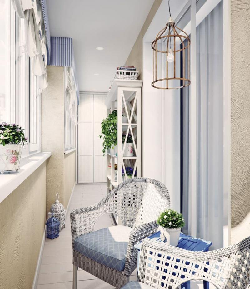 Балкон в стиле прованс 2