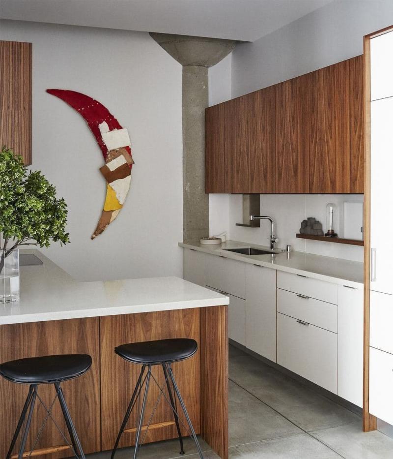 Барная стойка в маленькой кухне 1