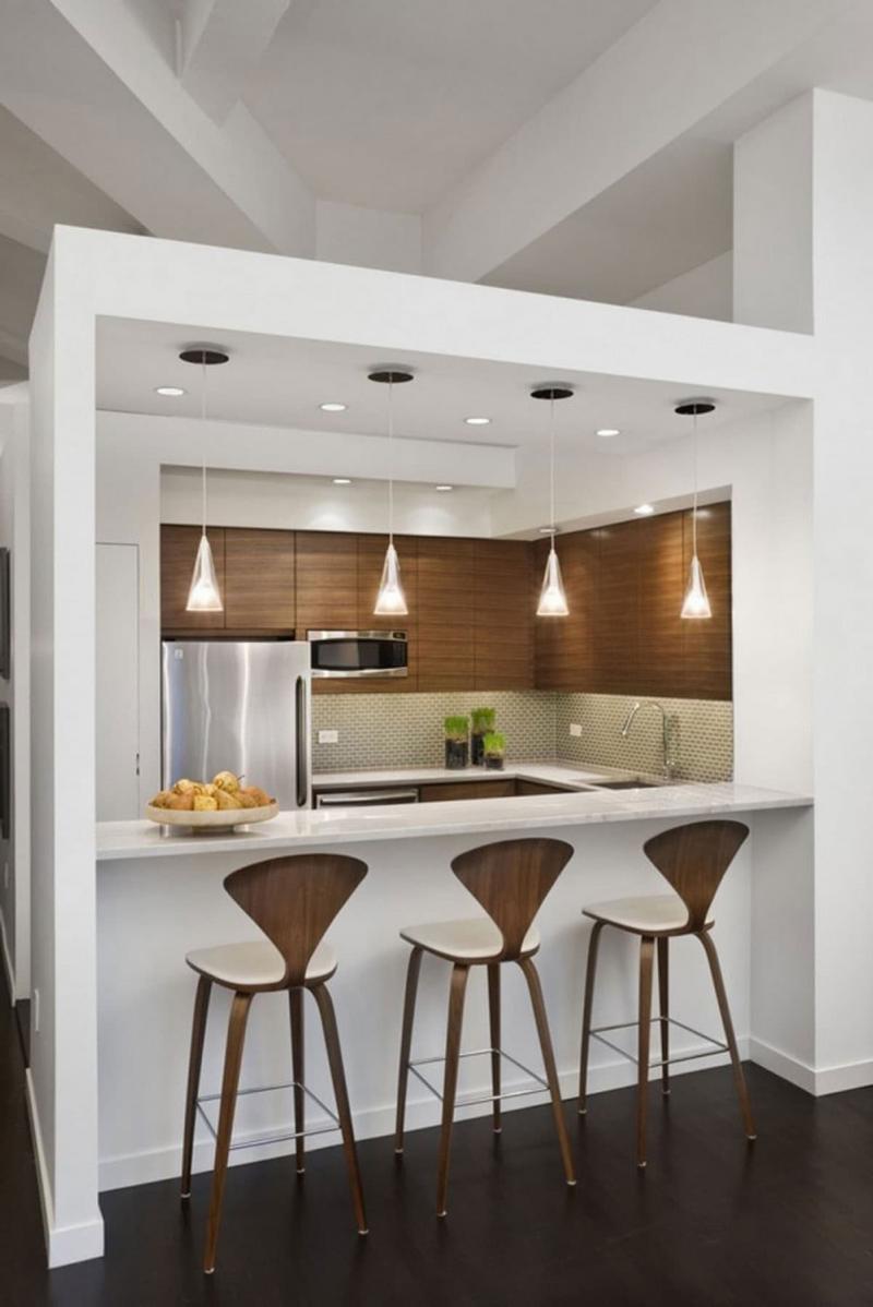 Барная стойка в маленькой кухне 2