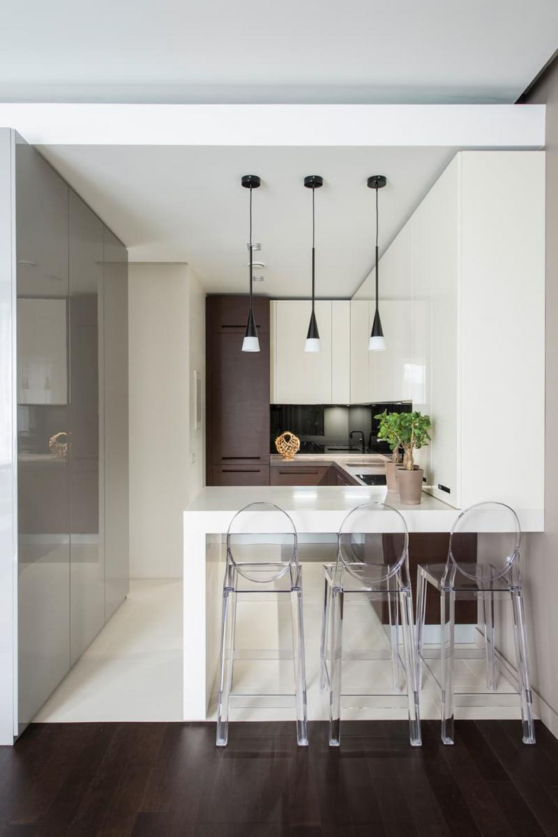 Барная стойка в маленькой кухне 3