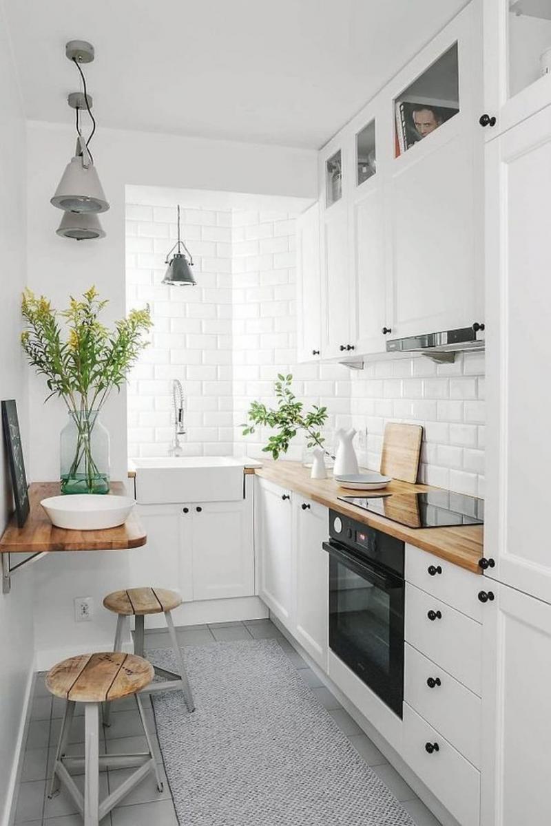 Барная стойка в маленькой кухне 4