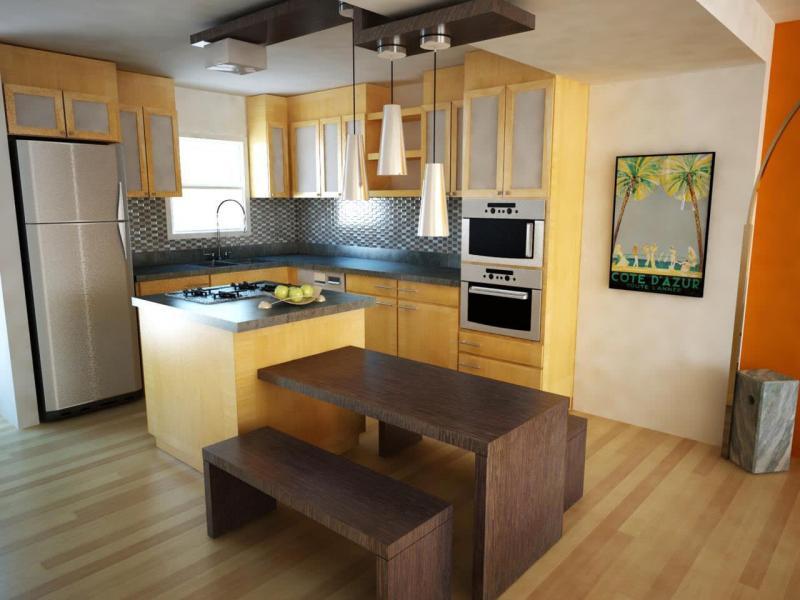 Фасады для маленькой кухни 2