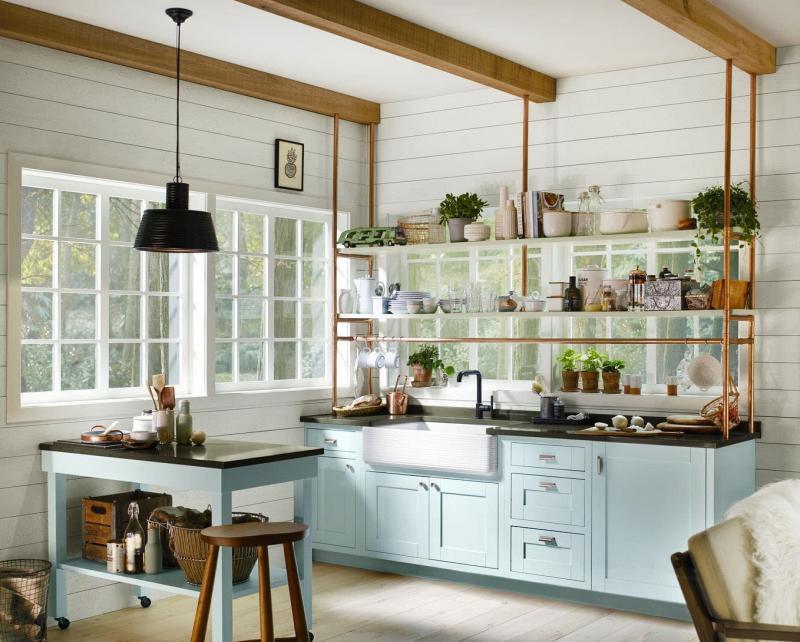 Палитра оттенков для маленькой кухни 3