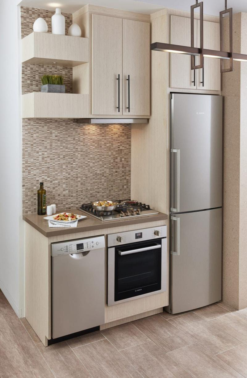Прямая маленькая кухня 3