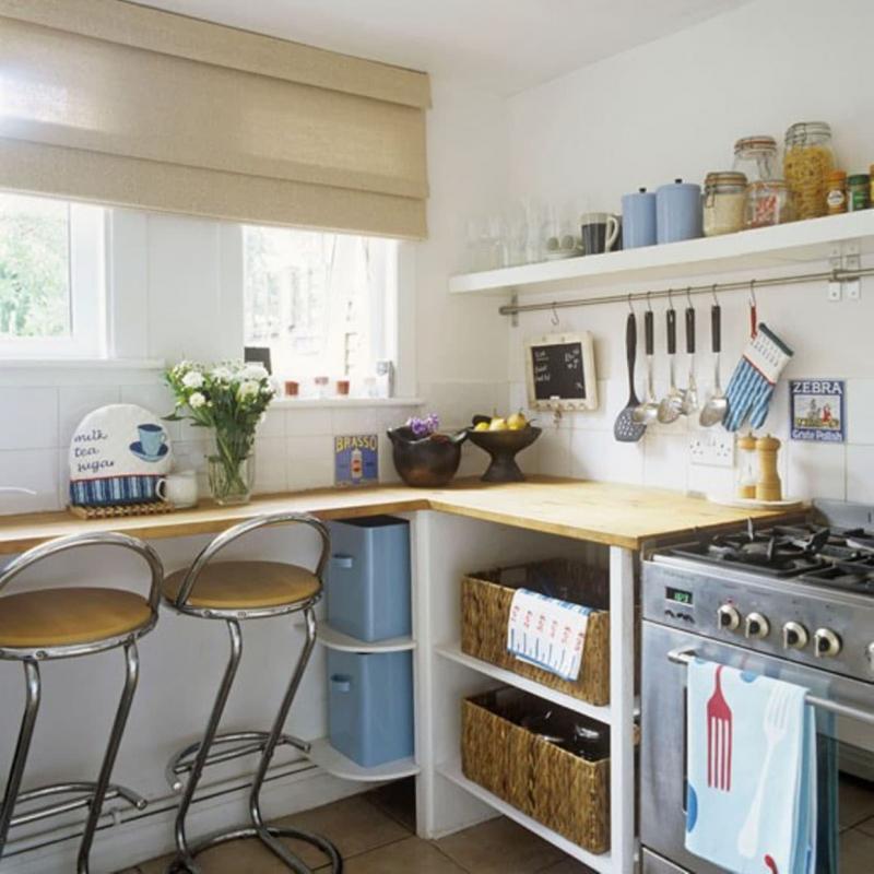 Рейлинги в маленькой кухне 1
