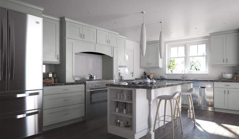 Белая угловая кухня 7