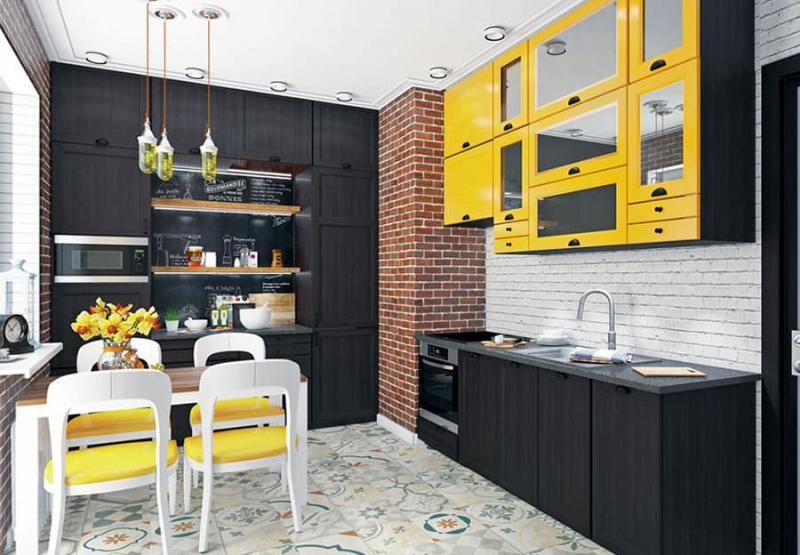 Эклектичная угловая кухня 6
