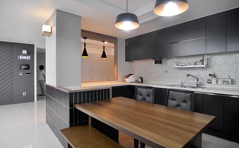 Фартук и столешница для угловой кухни 6
