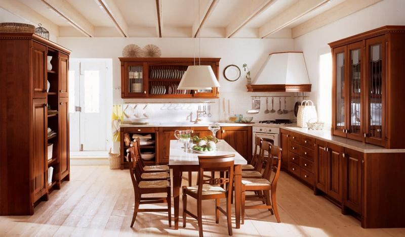 Кухня с угловой вытяжкой 1