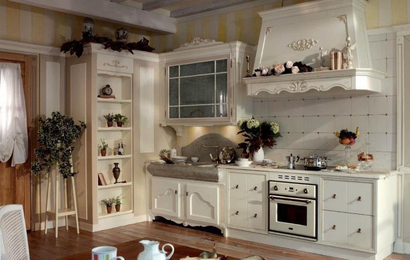 Прованская угловая кухня 1