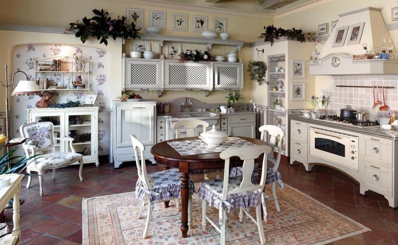 Прованская угловая кухня 5