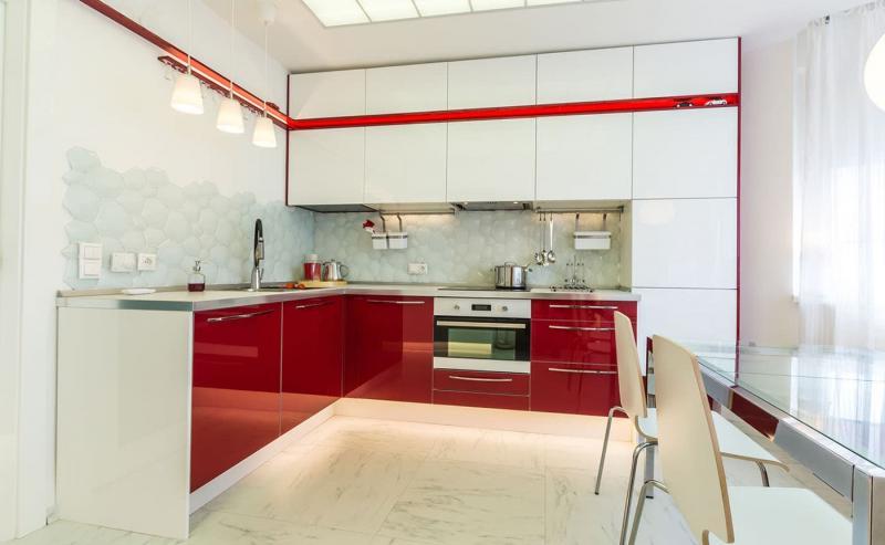 Современная угловая кухня 4
