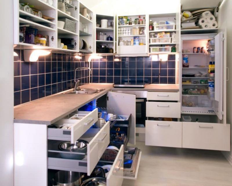 Угловая кухня 5 кв.м 7