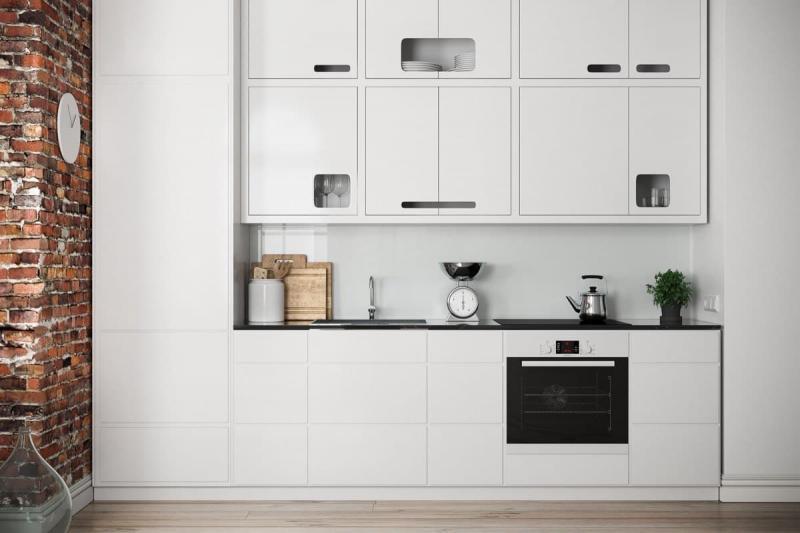 Угловая кухня в скандинавском стиле 1