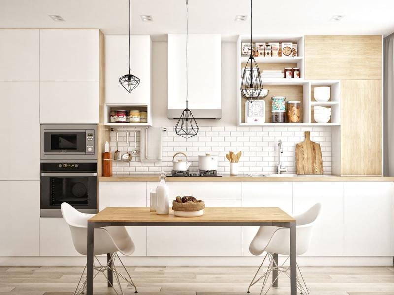 Угловая кухня в скандинавском стиле 2