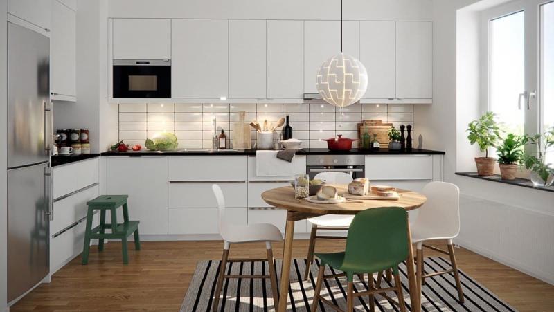 Угловая кухня в скандинавском стиле 3