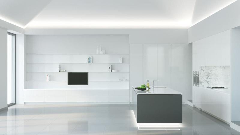 Угловая кухня в стиле минимализм 2