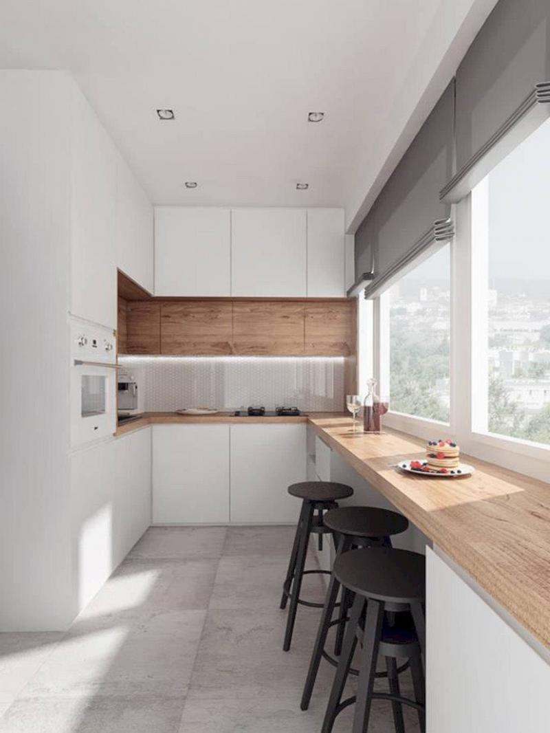 Белая кухня 6 кв. м 4