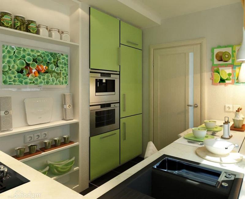 Хитрости обустройства кухни 6 кв.м. 1