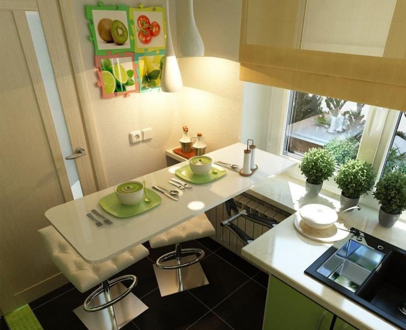 Хитрости обустройства кухни 6 кв.м. 3