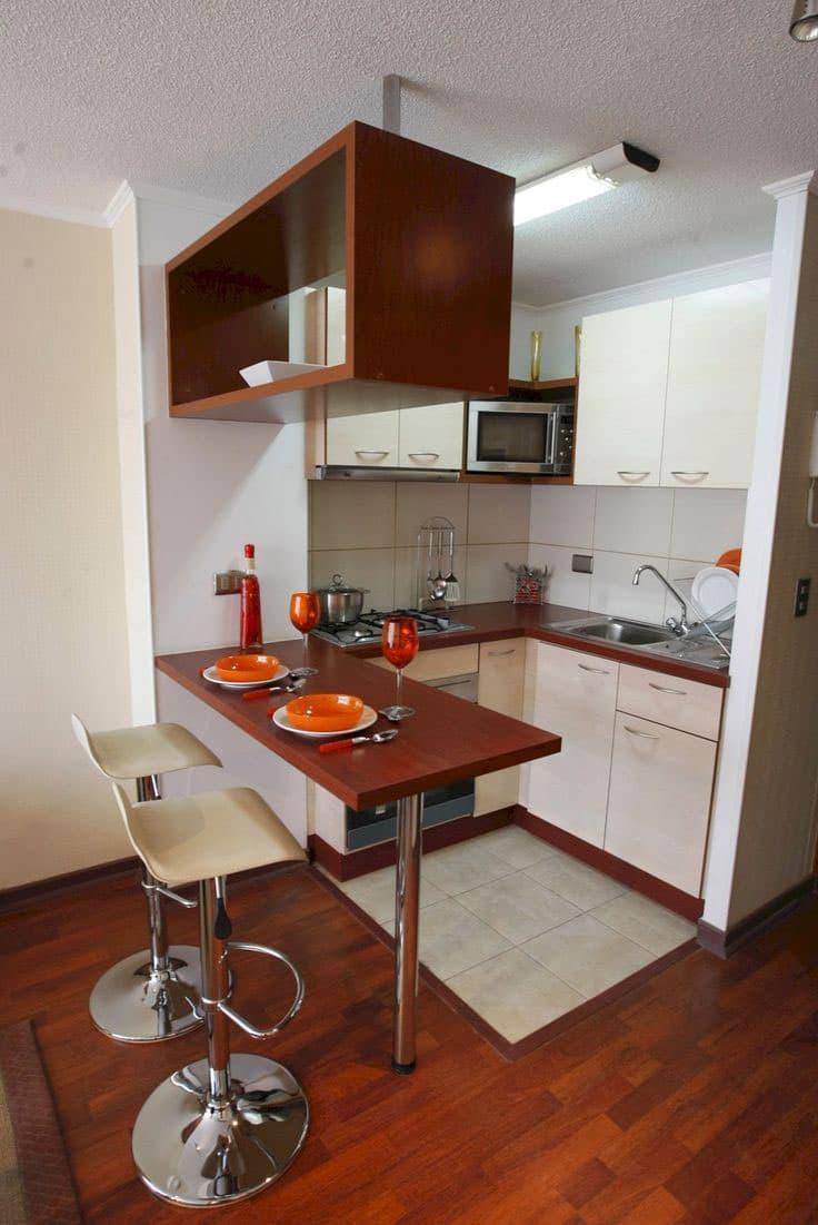 Кухня 6 кв. м с перепланировкой 2