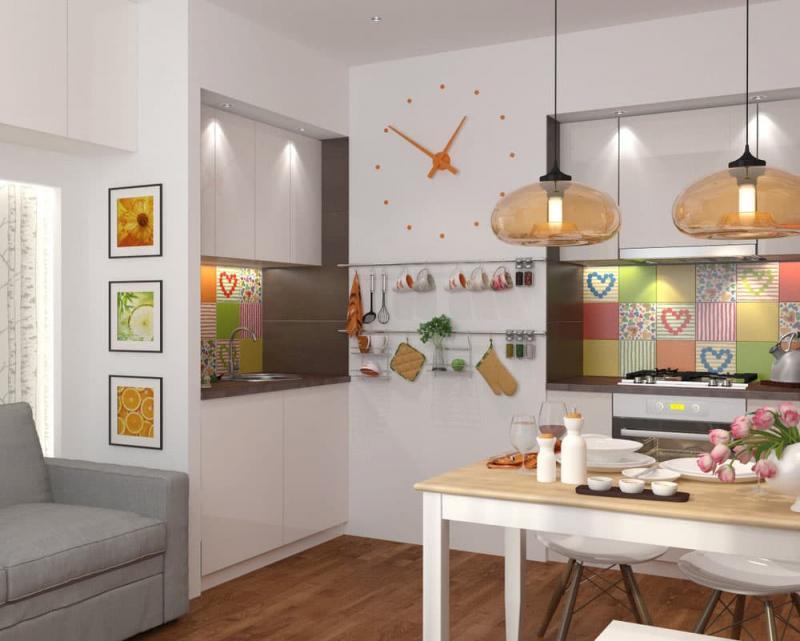 Кухня 6 кв. м в стиле эклектика 1