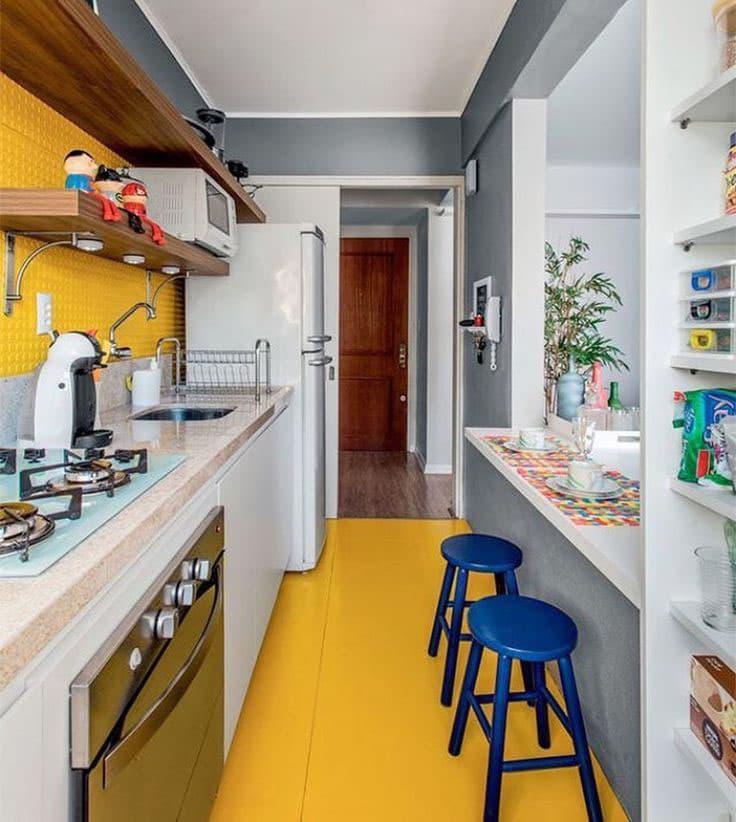 Кухня 6 кв. м в стиле эклектика 6