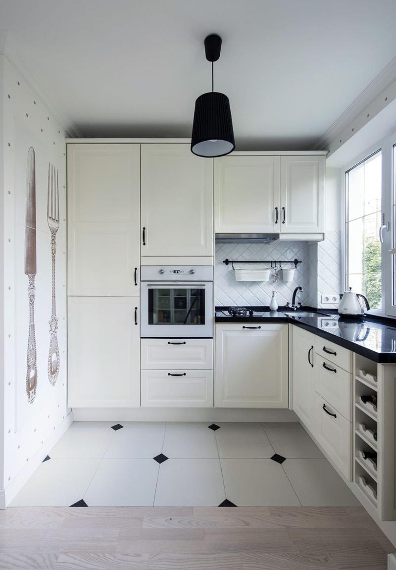 Кухня 6 кв. м в стиле классическом 2