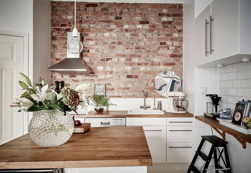 Кухня 6 кв. м в стиле лофт 2