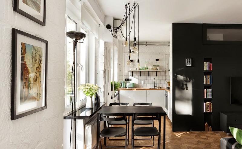 Кухня 6 кв. м в стиле лофт 3