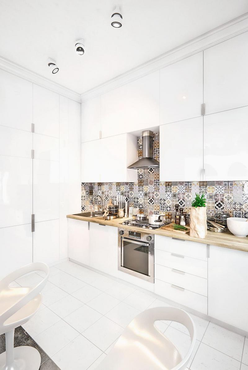 Кухня 6 кв. м в стиле минимализм 1