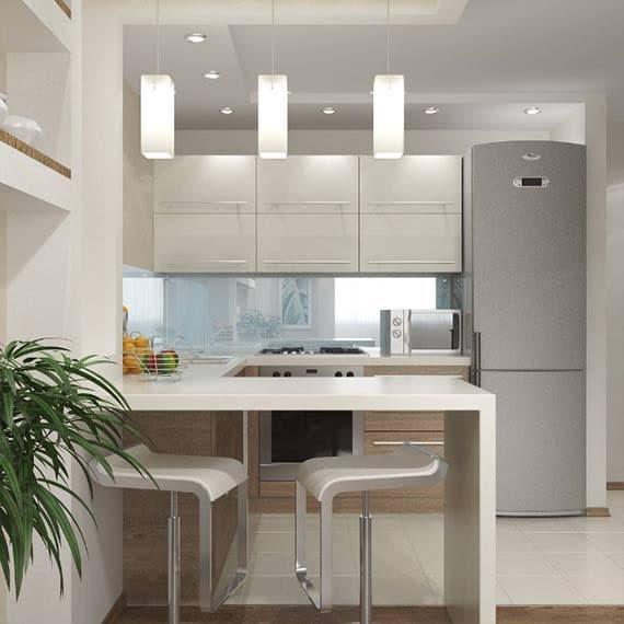 Кухня 6 кв. м в стиле минимализм 2