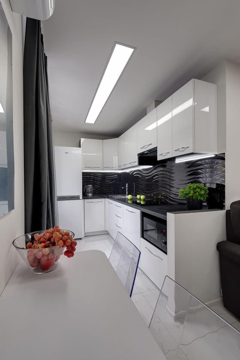 Кухня 6 кв. м в стиле минимализм 3