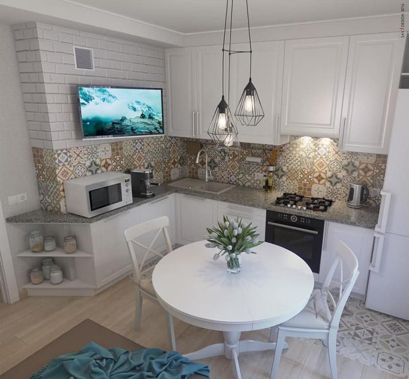 Кухня 6 кв. м в стиле прованс 1