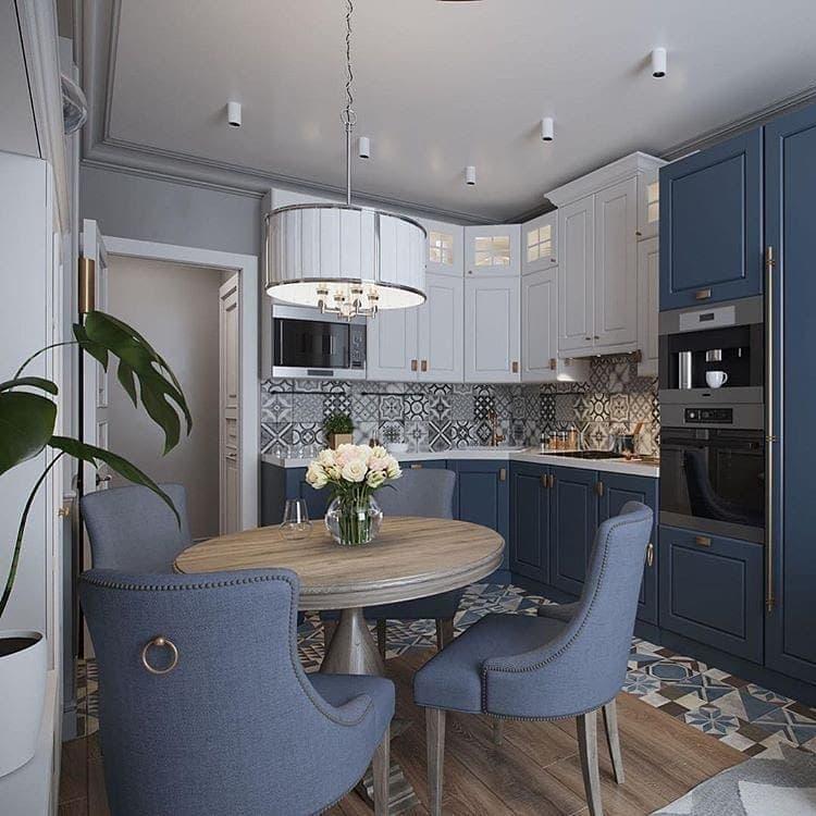 Кухня 6 кв. м в стиле прованс 4