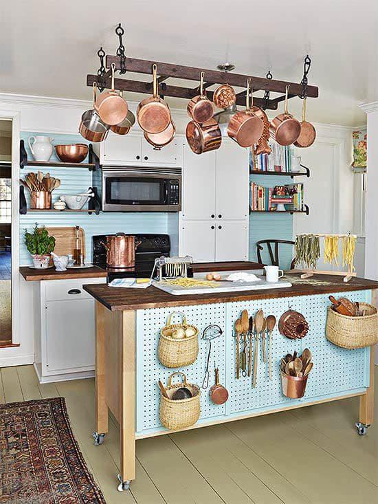 Кухня 6 кв. м в стиле прованс 5