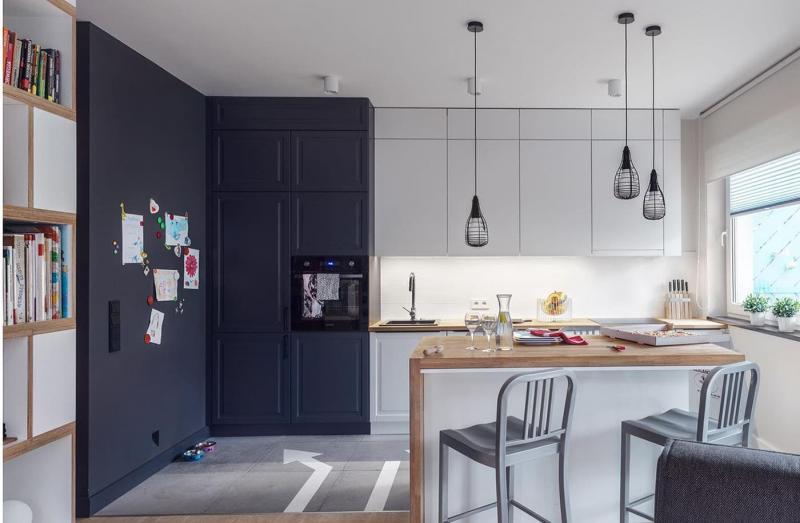 Кухня 6 кв. м в стиле скандинавском 3