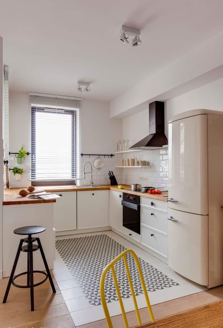 Кухня 6 кв. м в стиле скандинавском 6
